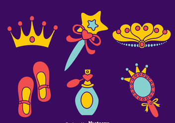 Princess Pageant Element Collection Vector - Kostenloses vector #400347