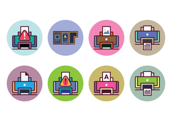 Free Printer Icon Set - vector #400377 gratis