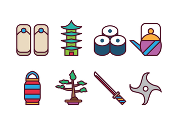 Free Japan Icon Set - vector gratuit #400407