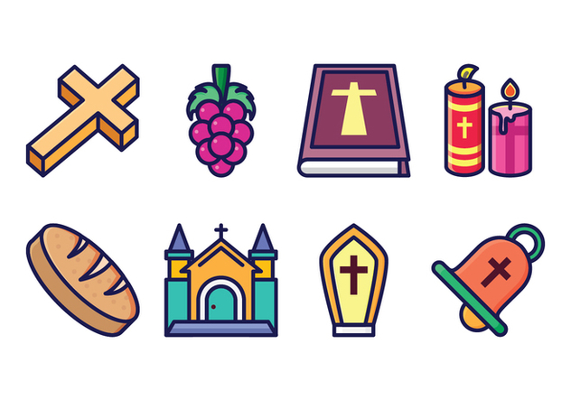 Free Eucharist Icon Set - Free vector #400427