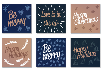 Vector Winter Holiday Cards - vector gratuit #400497