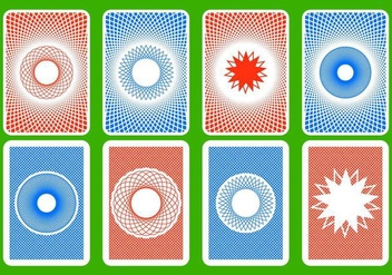Free Playing Card Back Vector - Kostenloses vector #400507