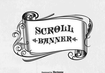 Free Vector Vintage Scroll Banner - Kostenloses vector #400607