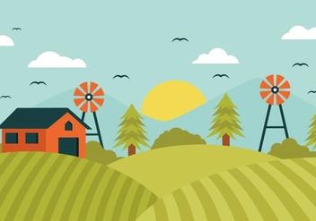 Free Landscape Farm Field Vector - Free vector #400677