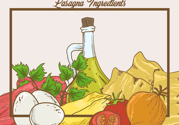 Ingredients of Lasagna Vector - vector gratuit #400767