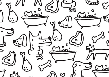 Dogs Pattern - vector gratuit #400967