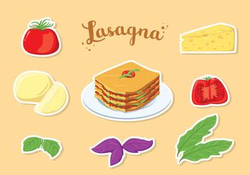 Free Lasagna Vector - Free vector #401097