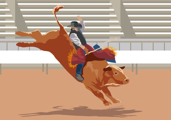Bull Rider Performance - Free vector #401127