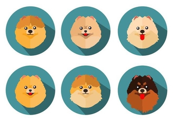 Free Pomeranian Icons Vector - vector #401137 gratis
