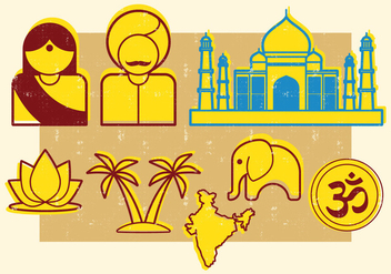 Indian Symbols - vector gratuit #401367
