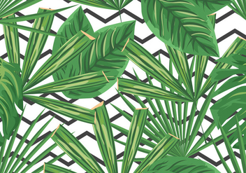 Green Palm Branches Palm Sunday Background - Free vector #401637