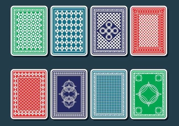 Playing Card Back Vectors - vector gratuit #401997