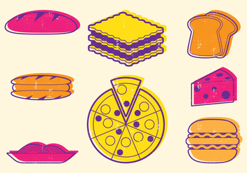 Italian Food Icons - vector #402177 gratis