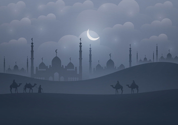 Background Of Arabian Nights - vector gratuit #402207