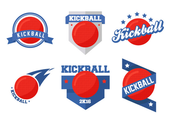 Kickball Vector Badges - Kostenloses vector #402577