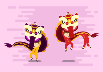 Free Lion Dance Vector - Free vector #402707