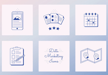 Vector Data Icons - Free vector #402777