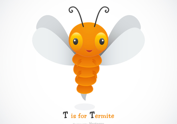 Free Vector Cartoon Termite Illustration - Free vector #403067
