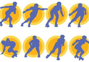 Free Roller Derby Icons Vector - Free vector #403147