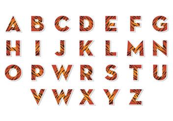 Free Tiger Alphabets Vector - Kostenloses vector #403357
