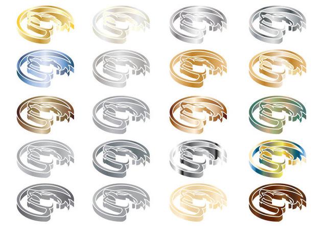 Free Honey Badger Isometric Metal Logo Vector - Free vector #403397