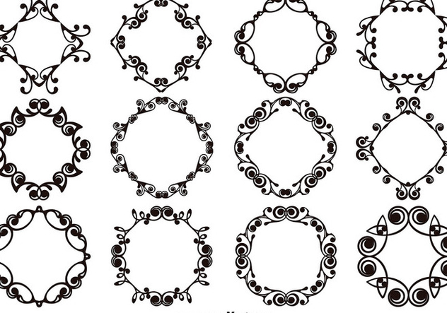 Set Of Ornamental Templates and Monograms - Free vector #403627