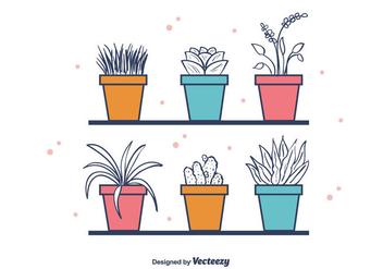 Free House Plants Vector - Kostenloses vector #403657