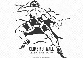 Free Wall Climbing Man Vector Illustration - Free vector #403677