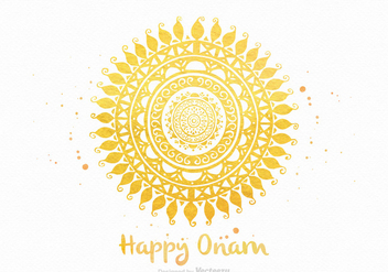 Free Happy Onam Vector Greeting Card - vector gratuit #403687