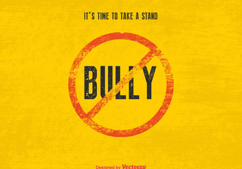 Free Vector Stop Bully Sign - vector gratuit #403707