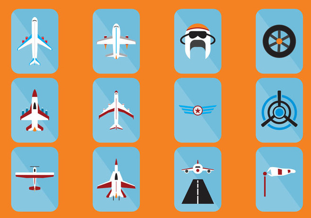 Aircraft Icon - Free vector #403877