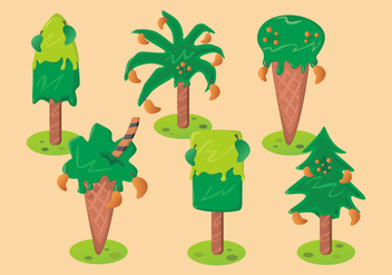Mango Tree Vector Set - vector #404017 gratis