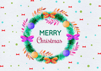 Free Vector Watercolor Christmas Illustration - Free vector #404077