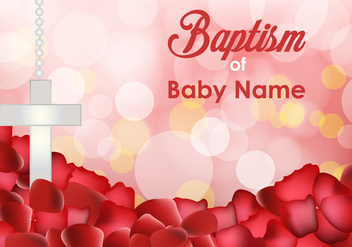 Baptism Invitation Templates - Free vector #404087