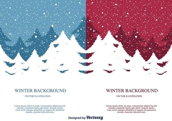 Winter Vector Background - Free vector #404347