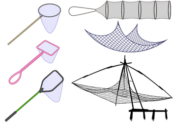 Fishing Net Free Vector - vector #404487 gratis