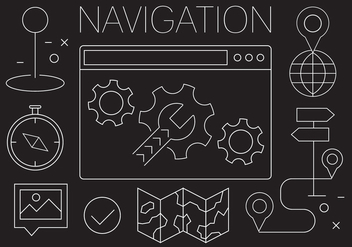 Free Navigation Icons - vector gratuit #404607