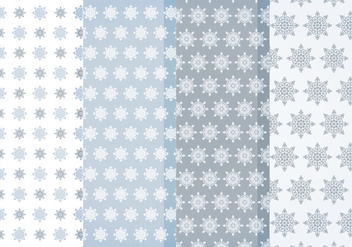 Vector Snowflakes Patterns - vector gratuit #404697
