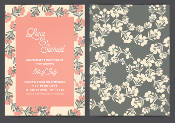 Vector Wedding Invitation - Free vector #404707