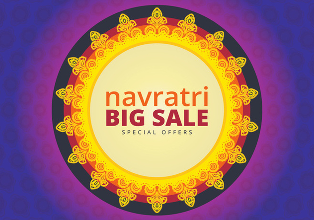 Navratri Big Sale Illustration - Kostenloses vector #404777