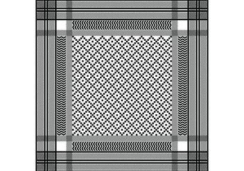 Keffiyeh Black Seamless Pattern - Kostenloses vector #405027