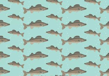Walleye Seamless Pattern Background - бесплатный vector #405067