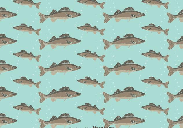 Walleye Seamless Pattern Background - vector gratuit(e) #405067