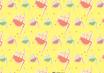 Colorful Bagpipes Seamless Pattern - Free vector #405077