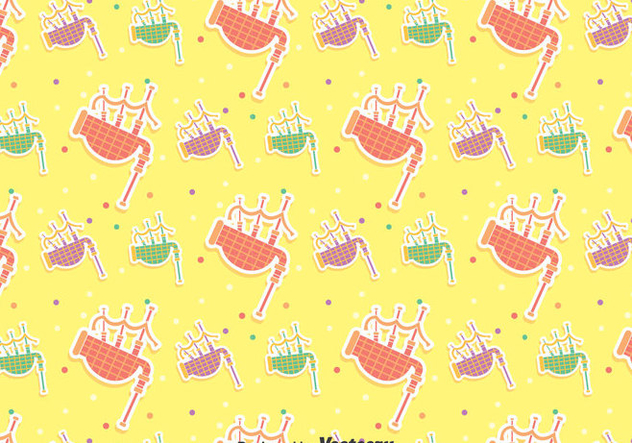 Colorful Bagpipes Seamless Pattern - vector gratuit(e) #405077
