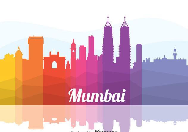 Colorful Mumbai Cityscape Vector - vector gratuit(e) #405107