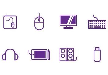 Computer Icon Set - Kostenloses vector #405497