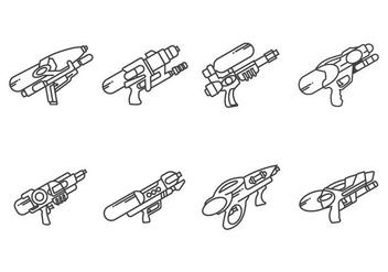 Water Gun Vectors - Free vector #405517