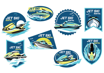 Jet Ski Vector - бесплатный vector #405647