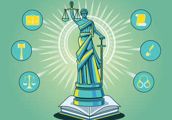 Statue of Justice Vector Background - vector #405677 gratis